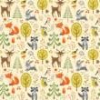 Sky Eco prémium eco bőr keretes ágyneműtartós gyerekágy: beige eco bőr diamond forest erdei állatos 3