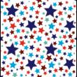 Berry Baby DIAMOND szivacs kanapéágy, felnőtt méretben:  Sötétkék - Blue Stars