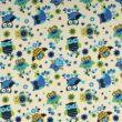 Wextra leesésgátlós kárpitos gyerekágy: királykék kék baglyos 11