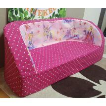 Berry Baby Babakanapé  - Birdie (6 hónapos kortól 6 éves korig): Pink pöttyös királylányos