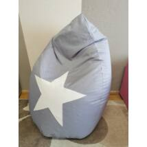 Csepp alakú 2in1 babzsák:  WEXTRA Szürke STARS