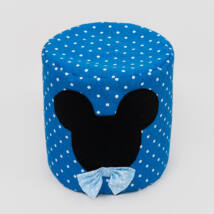 Babzsák puff: Királykék pöttyös - Mickey fantázia