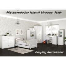 Leesésgátlós FILIP COLOR gyerekágy - 3 méretben: Fehér