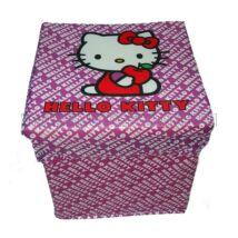 Összecsukható játéktároló puff: Hello Kitty