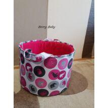 Berry Baby szövet játéktároló - WEXTRA Rózsaszín elefántos