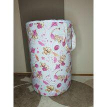 Berry Baby szennyestartó/játéktároló: Rózsaszín macis