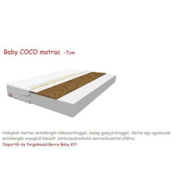 Baby COCO Hideghab matrac antiallergén kókuszréteggel, 7 cm vastag - 80x160 cm-es KÉSZLETRŐL