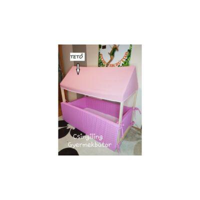 HOUSE házikó formájú ágy EXTRA KIEGÉSZÍTŐJE: TETŐ 70x140-es ágyhoz RÓZSASZÍN KÉSZLETRŐL