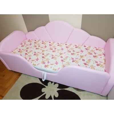 Ágytakaró gyermekágyaink mintájával: Rózsaszín macis 63x150 cm-es