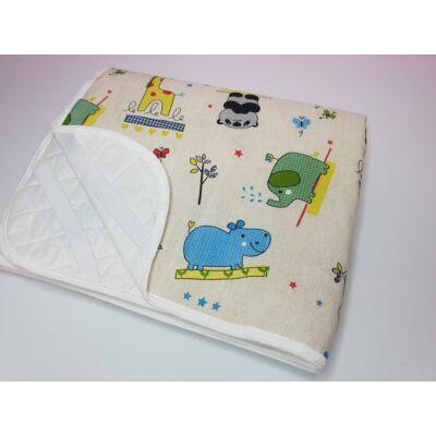 Ágytakaró gyermekágyaink mintájával: Zöld kiselefántos 63x150 cm-es