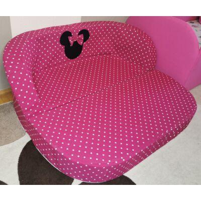 Berry Baby Babakanapé  - Birdie (6 hónapos kortól 6 éves korig): Pink pöttyös Minnie fantázia, KIHAJTHATÓ, KÉSZLETRŐL