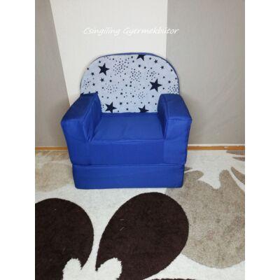 Berry Baby Babafotel - klasszikus (0-3 éves korig): Sötétkék+kék csillagos háttámla KÉSZLETRŐL!!!-bútorszövet