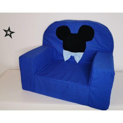 Berry Baby Babafotel - klasszikus (0-3 éves korig): Királykék Mickey fantázia KÉSZLETRŐL!!!-bútorszövet