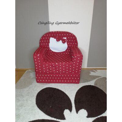 Berry Baby Babafotel - klasszikus (0-3 éves korig): Piros szíves Kitty  KÉSZLETRŐL!!!-bútorszövet
