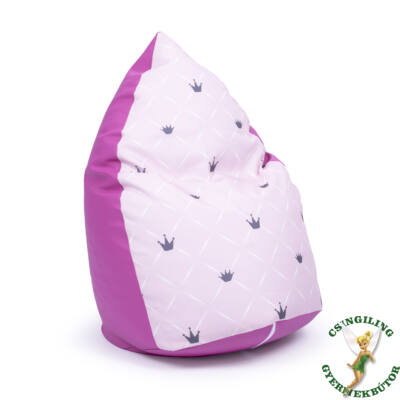 Csepp alakú 2in1 babzsák: Pink ECO BŐR - Rózsaszín Chesterfield KÉSZLETRŐL