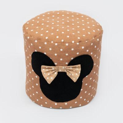 Babzsák puff: Kávé pöttyös Minnie fantázia