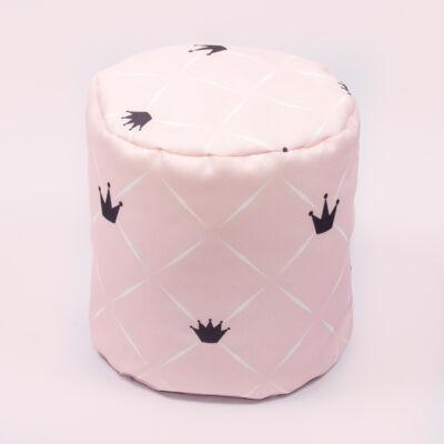 Babzsák puff: Diamond Rózsaszín Chesterfield KÉSZLETRŐL