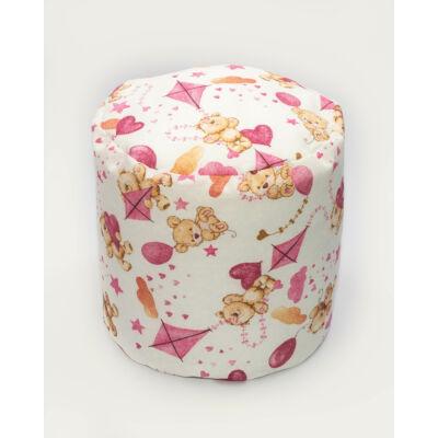 Babzsák puff: Rózsaszín macis KÉSZLETRŐL