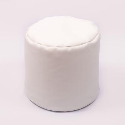 Babzsák puff: Fehér Eco-bőr KÉSZLETRŐL