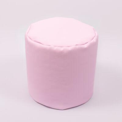 Babzsák puff: Rózsaszín Eco-bőr KÉSZLETRŐL