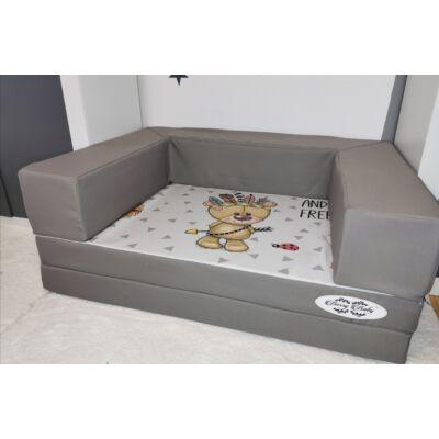 Berry Baby DIAMOND szivacs kanapéágy, felnőtt méretben:  Grafit - Wild and Free