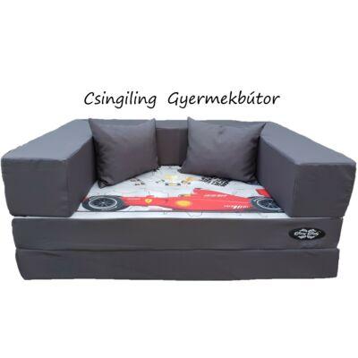 Berry Baby DIAMOND szivacs kanapéágy, felnőtt méretben: Grafit - Formula 1