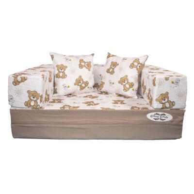 Berry Baby DIAMOND szivacs kanapéágy, gyerek méretben:  Kávé - Bear