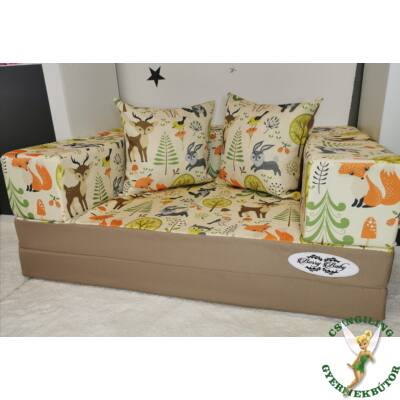 Berry Baby DIAMOND szivacs kanapéágy, felnőtt méretben: Kávé-Forest