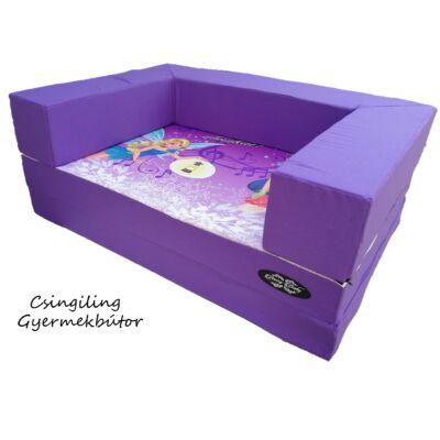 Berry Baby DIAMOND szivacs kanapéágy, felnőtt méretben: Lila - Álomtündérek