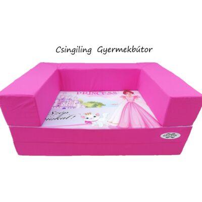 Berry Baby DIAMOND szivacs kanapéágy, gyerek méretben: Pink - Princess