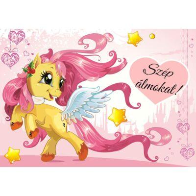 Berry Baby DIAMOND szivacs kanapéágy, gyerek méretben: Pink - Pony