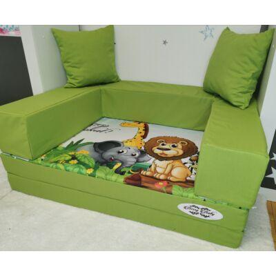 Berry Baby DIAMOND szivacs kanapéágy, gyerek méretben:  Pisztácia - Madagascar