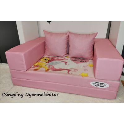 Berry Baby DIAMOND szivacs kanapéágy, gyerek méretben:  Puncs-Pony