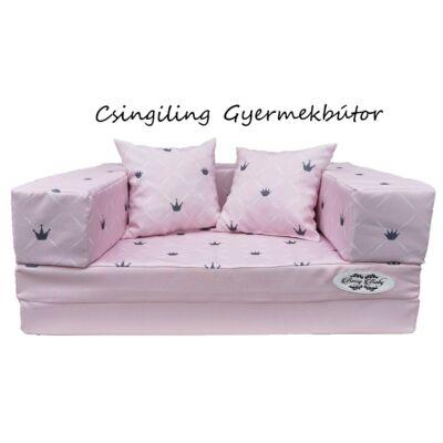 Berry Baby DIAMOND szivacs kanapéágy, gyerek méretben: Rózsaszín - rózsaszín Chesterfield
