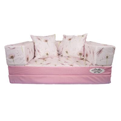 DIAMOND szivacs kanapéágy, gyermek méretben: Rózsaszín - Dandelion KÉSZLETRŐL!!!