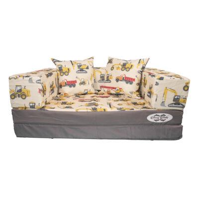 Berry Baby DIAMOND szivacs kanapéágy, felnőtt méretben: Szürke - Trucks