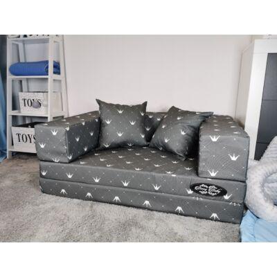 Berry Baby DIAMOND szivacs kanapéágy, felnőtt méretben: szürke Chesterfield