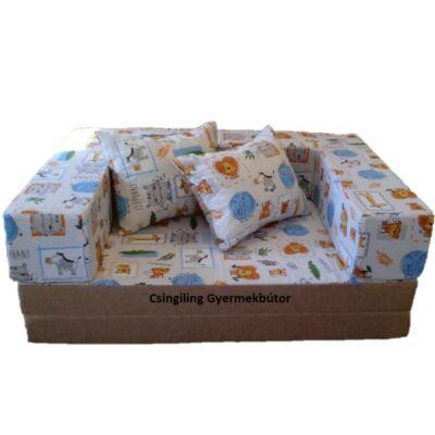 Berry Baby SUNSHINE szivacs kanapéágy, gyerek méretben: Kávé - dzsungeles