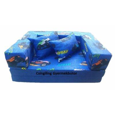 Berry Baby SUNSHINE szivacs kanapéágy gyerek méretben: kék racing