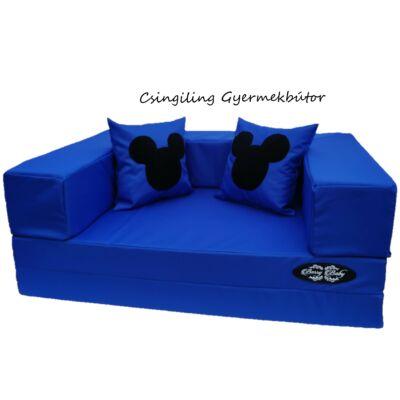 SUNSHINE szivacs kanapéágy, gyermek méretben, 2 lapos: Királykék Mickey fantázia KÉSZLETRŐL!!!