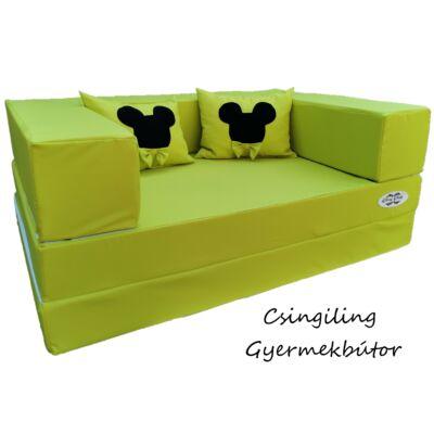 Berry Baby SUNSHINE szivacs kanapéágy, felnőtt méretben:  Kiwi (Mickey fantázia díszpárnákkal is kérhető)
