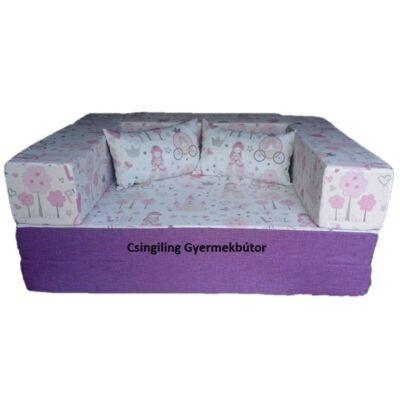 Berry Baby SUNSHINE szivacs kanapéágy, gyerek méretben: Milka lila - Little Princess