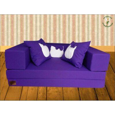 Berry Baby SUNSHINE szivacs kanapéágy, gyerek méretben: Milka lila (Hello Kitty  fantázia díszpárnákkal is kérhető)