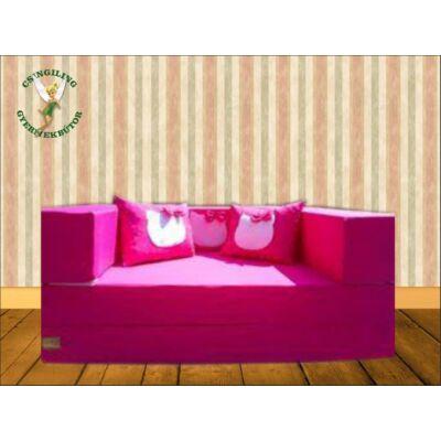 Berry Baby SUNSHINE szivacs kanapéágy, felnőtt méretben: Pink (Hello Kitty fantázia díszpárnákkal is kérhető)