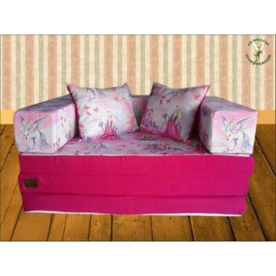Berry Baby SUNSHINE szivacs kanapéágy, felnőtt méretben: Pink - királylányos