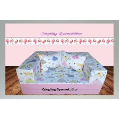 Berry Baby SUNSHINE szivacs kanapéágy, gyerek méretben: Puncs - tündéres