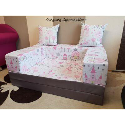 Berry Baby SUNSHINE szivacs kanapéágy, gyerek méretben: Szürke - Little Princess