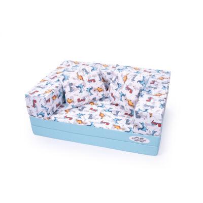 Berry Baby SUNSHINE szivacs kanapéágy, gyerek méretben: Világoskék - ÚJ dínós