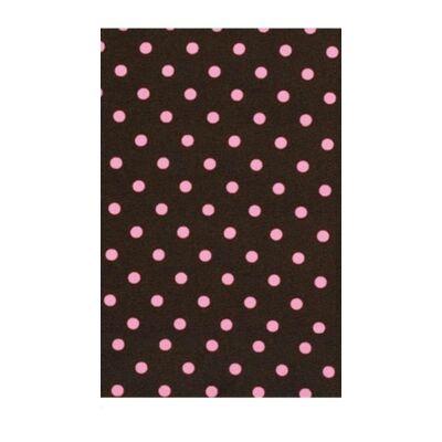 Babzsák puff: WEXTRA Csoki alapon rózsaszín pöttyös