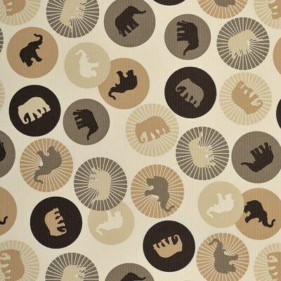 Berry Baby WEXTRA szivacs kanapéágy, gyerek méretben: Csoki - barna elefántos ülőlap és karfa